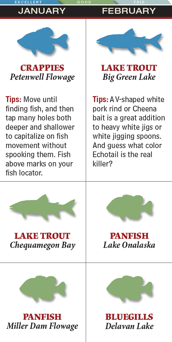 Big Green Lake is the Place for February Trout Fishing in Wisconsin