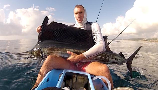 Video: Kayak Angler Fights Off Two Crazy Sailfish