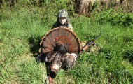 Jimmy Mulvehill 14, of Terryville Connecticut shot this 24 pound turkey while hunting with his dad in Litchfeild.