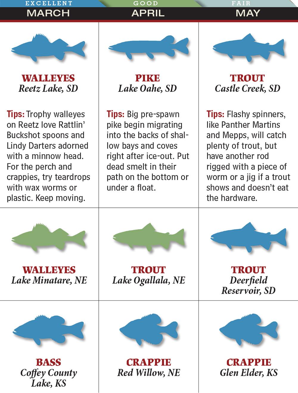 Your best spring fishing in south dakota game fish for South dakota game fish