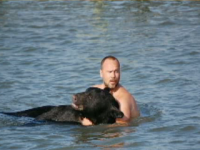 adam warwick, black bear rescue, drowing bear, black bear, florida bear rescue