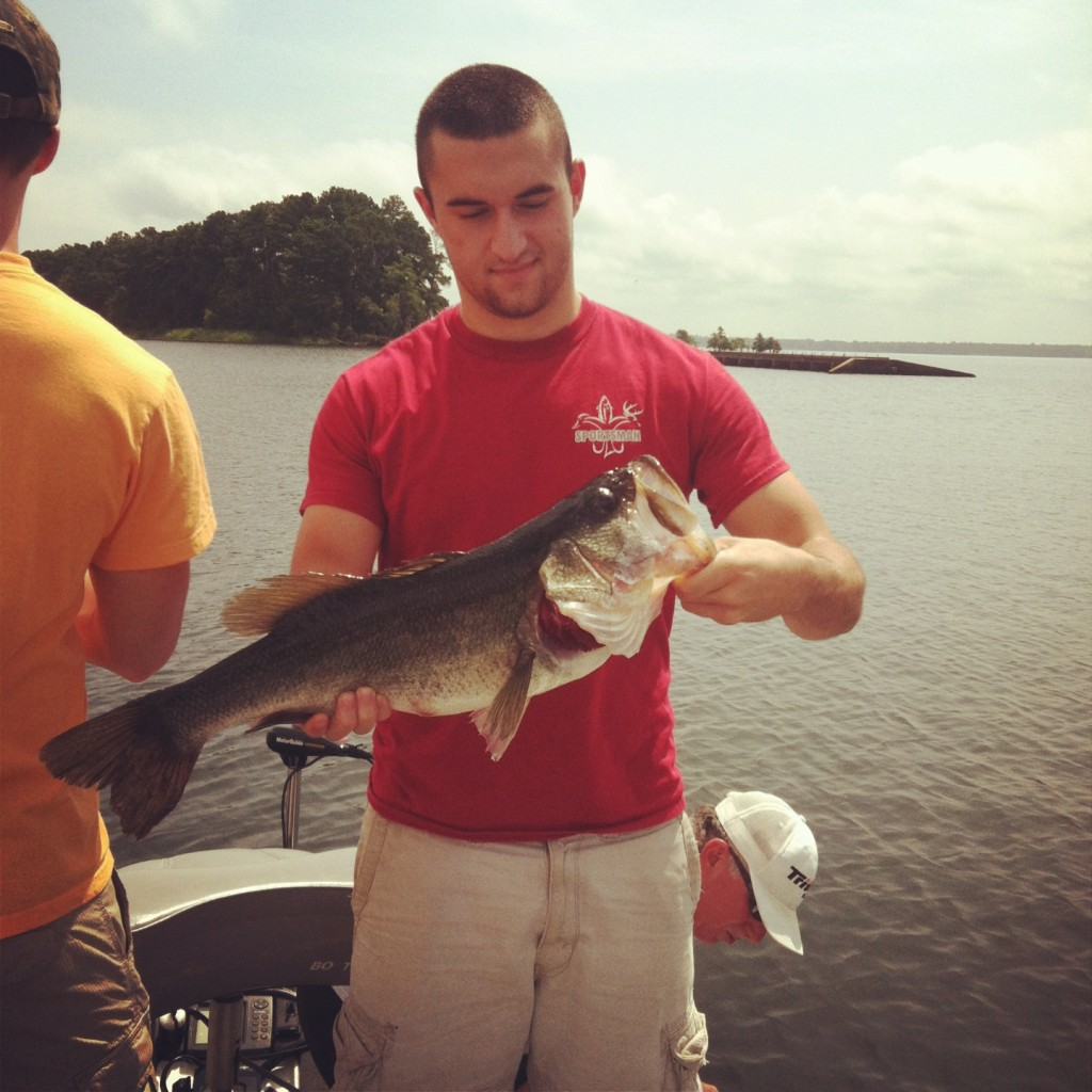 Big bass caught off of a gummy worm game fish for Fishing worms near me