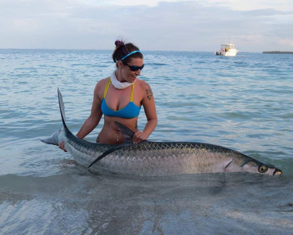 Tarpon from the beach game fish for Best saltwater fishing spots in nj