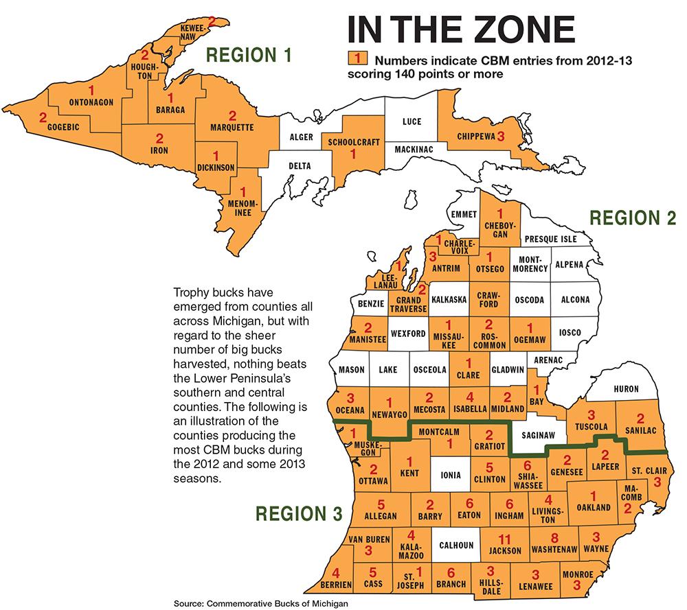 Michigan rifle line map for Michigan dnr fishing guide
