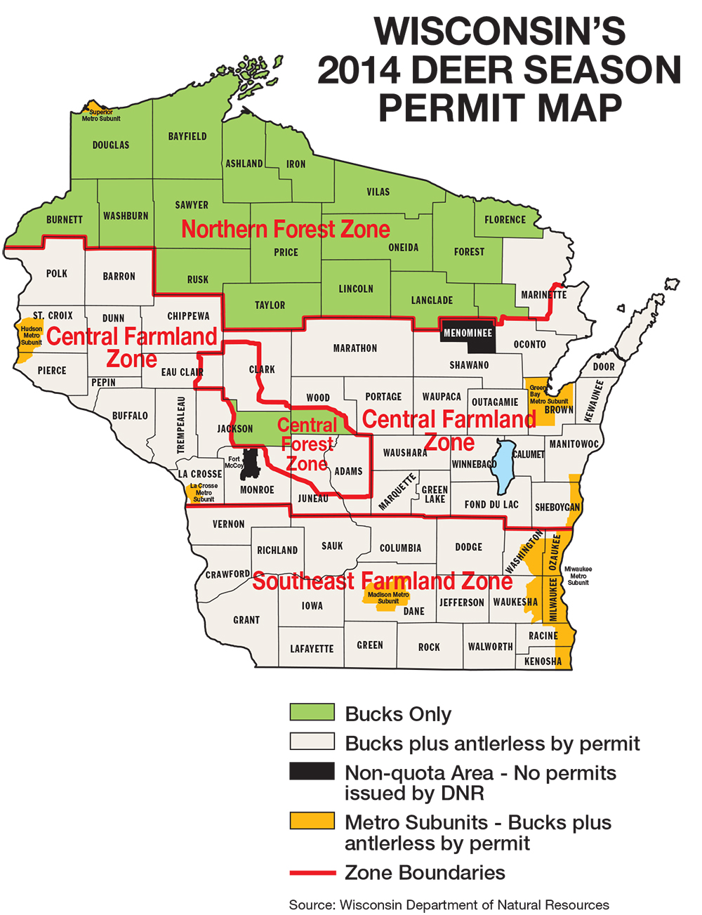 Wisconsin Deer Hunting Forecast For 2014  Game Amp Fish