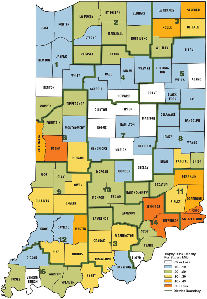 Best Big Buck States For 2014 Indiana - Game U0026 Fish