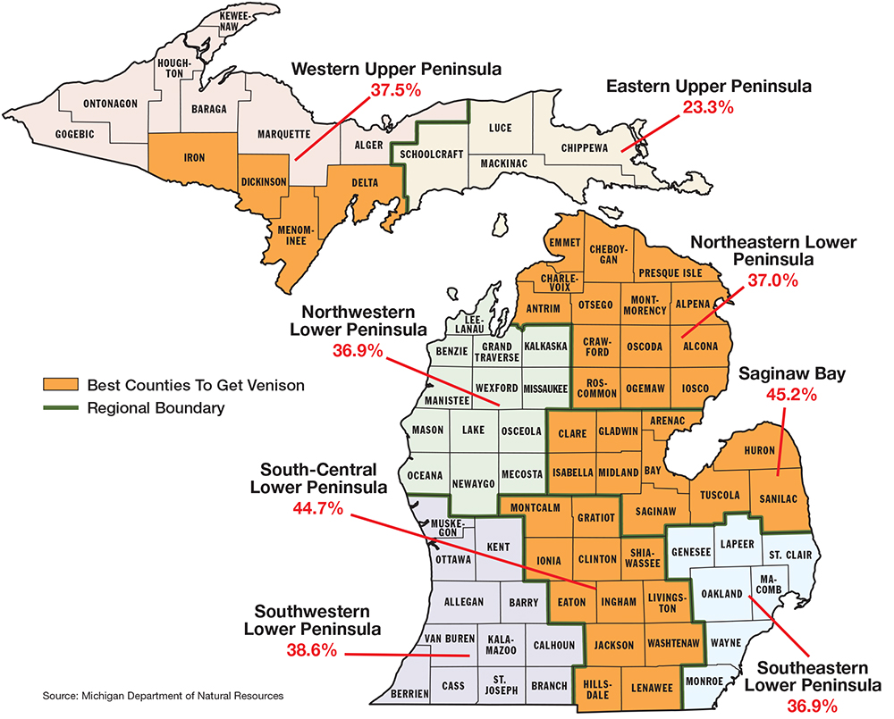 Michigan Frost Line Map  Michigan Map