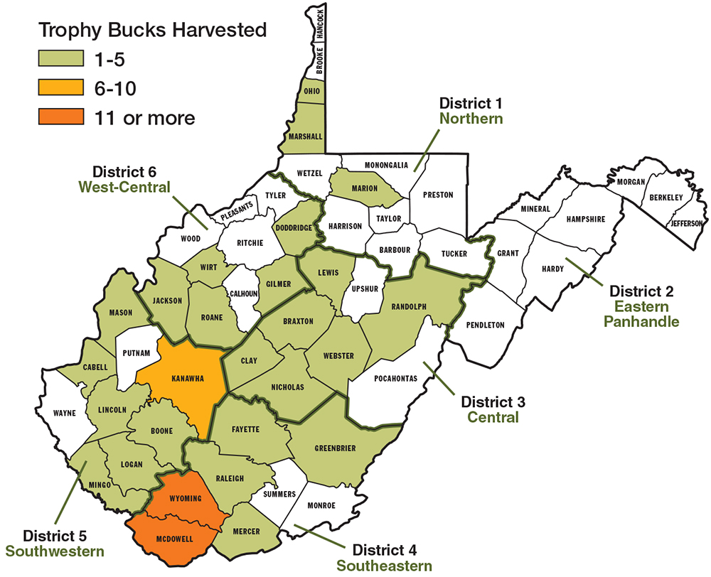 Best big buck states for 2014 west virginia game fish 10 10 wv ds map h copy publicscrutiny Choice Image