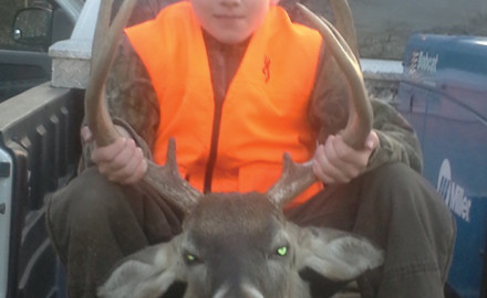 Gaven Hinson bagged his first deer on the last day of the 2014 season. Gaven killed the big buck in Natchez while hunting with his father, Hunter Hinson.