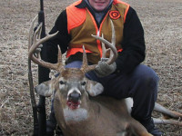 Trevor Klein, 15 took time out of his day volunteering to teach basketball to elementary school children, to kill this nice buck, near Adams, Neb. during the 2011 season.