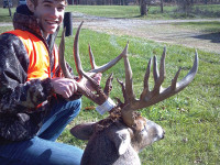 Lane Babb, 16 shot this nice, 22 point buck in Edgar County during the 2012 season.