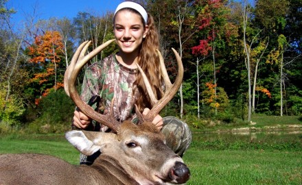 Molly Mueller killed this nice, nine point buck on September 28th of 2014, during the youth deer hunt.   The buck field dressed at 213 pounds.