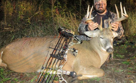 Chad Rohacs got this beast of a 10 point that dressed out at 248 pounds back in October 23rd, 2013 in Cass County.