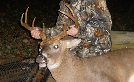 Joshua Speer, 13, of Statesville, killed his first muzzleloader buck on November 9, 2013 in Turnersburg, N.C.