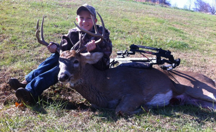 Case Stidham killed this nice buck on his Grandfather's farm in Gallia County, in November of 2013.