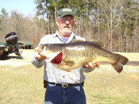James Allen caught this 15.25-pound record on Calling Panther Lake.
