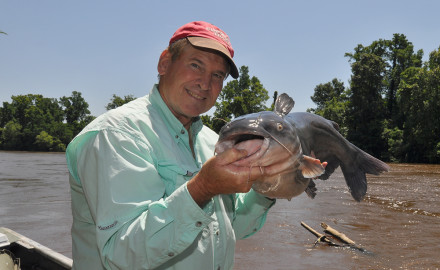 Author Mike Marsh caught this blue catfish at the Cape Fear River.