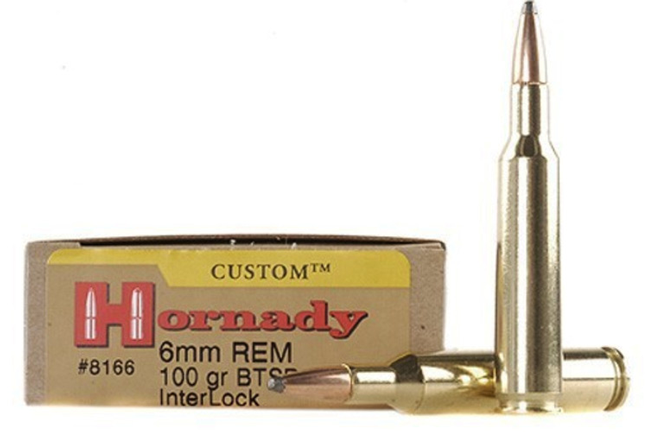 Hornady 6mm Remington cartridge
