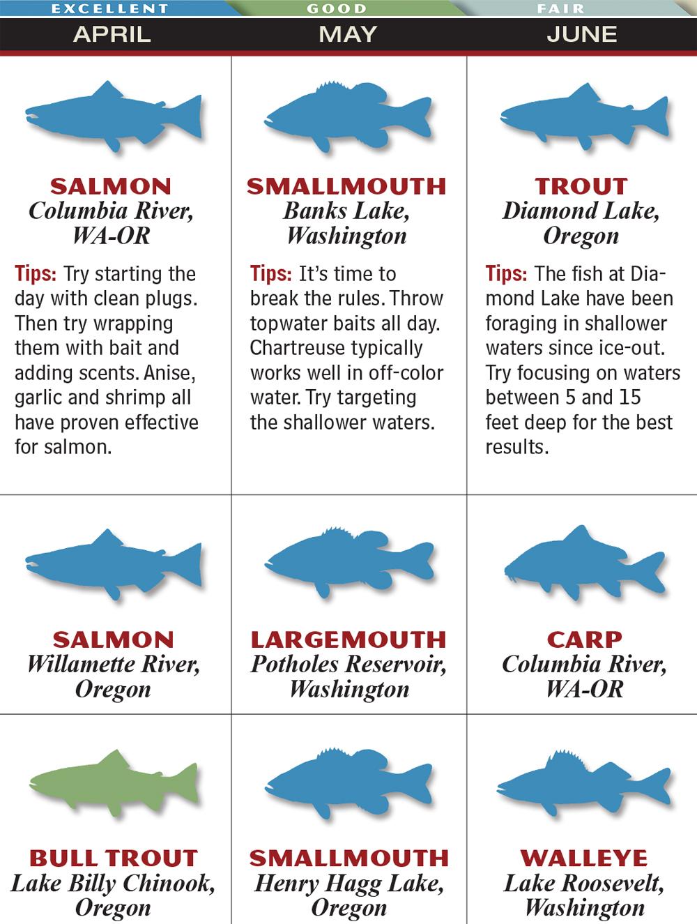 Northwest 2015 Fishing Calendar