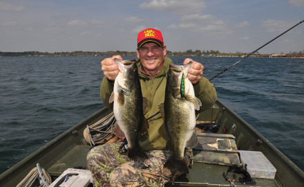 Author Mike Marsh caught these largemouth bass at White Lake. One weighed 4 3/4 pounds and the