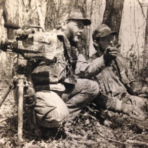 1991  Strickland and Toxey Haas on a Alabama turkey hunt trying to make some TV