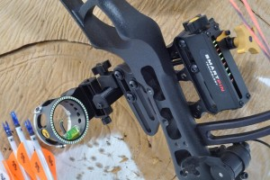 The author prefers to shoot with single-pin sights that allow for easy adjustment. Ideally, you should be able to clip your release to your string loop and still adjust your sight up and down. This results in very little movement if an on-the-fly adjustment is necessary.