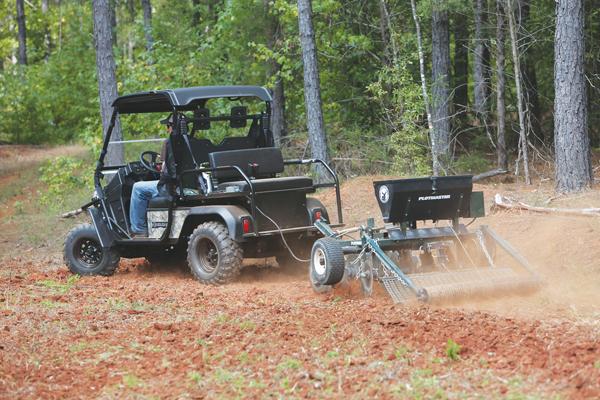 Utilizing a UTV For Deer Food Plots