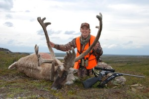 Brenda shot this caribou in Quebec in 2008, one year after being diagnosed with breast cancer.