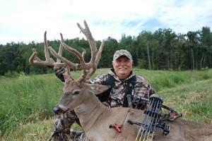 Stan's first velvet buck taken with a bow in Kentucky.