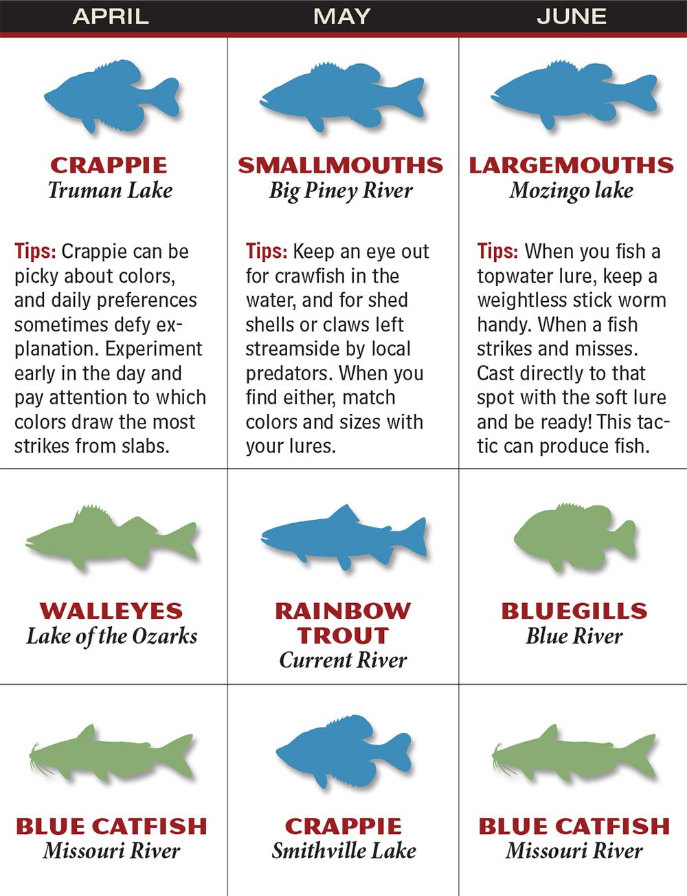 Missouri 2016 Fishing Calendar