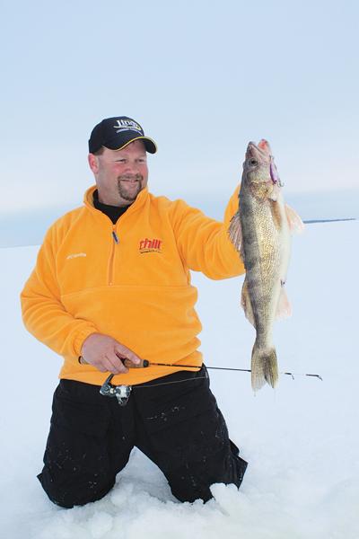 Winter Walleye Fishing, Fishing for winter Walleye