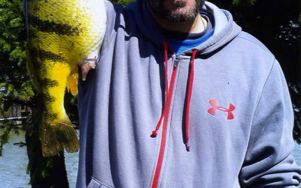 David Berg's Ohio State-Record 2.86-pound yellow perch.  You know you've caught a big fish when
