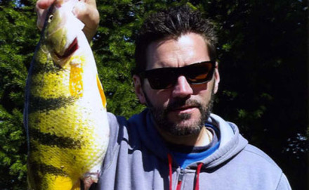 David Berg and his Ohio Yellow Perch State Record