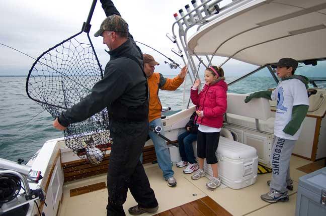 Salmon fishing in michigan