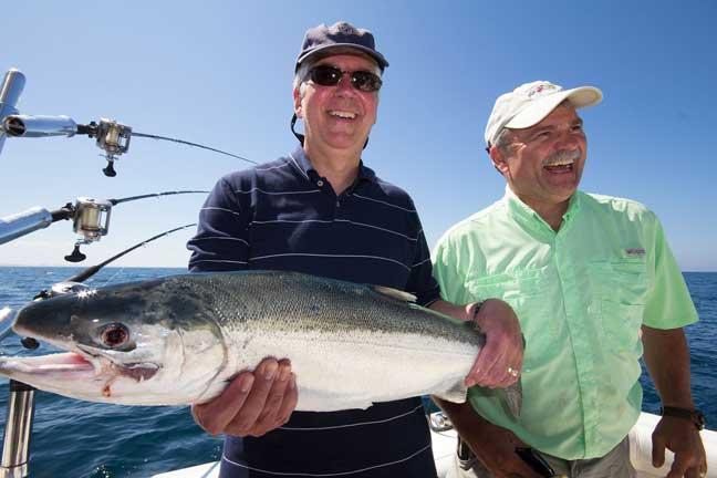 salmon fishing in the great lakes michigan