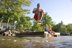 After you work up a sweat, plan on plenty of time for swimming. Photo by: Maine Office of Tourism