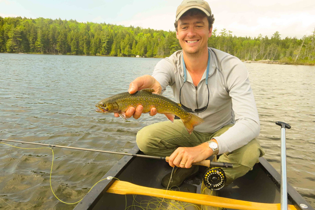 A quiet lake and big trout. Who wouldn't want to be in this picture? Photo by: David Sherwood