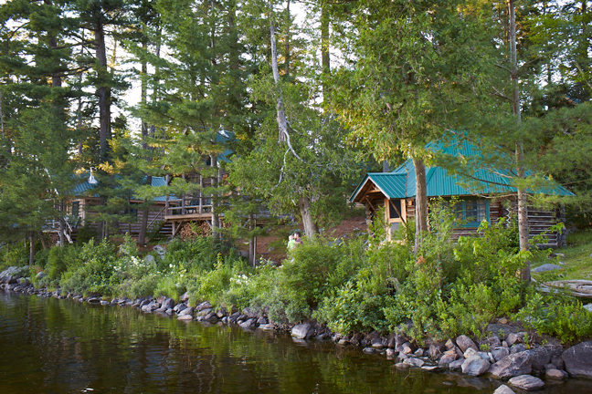 Many lodges offer lakeside cabins with great views. Photo by: Dennis Welsh