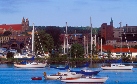 Sailboats line the shores around Marquette, your jumping off point for the journey to Copper Harbor. Photo By Aaron Petersen