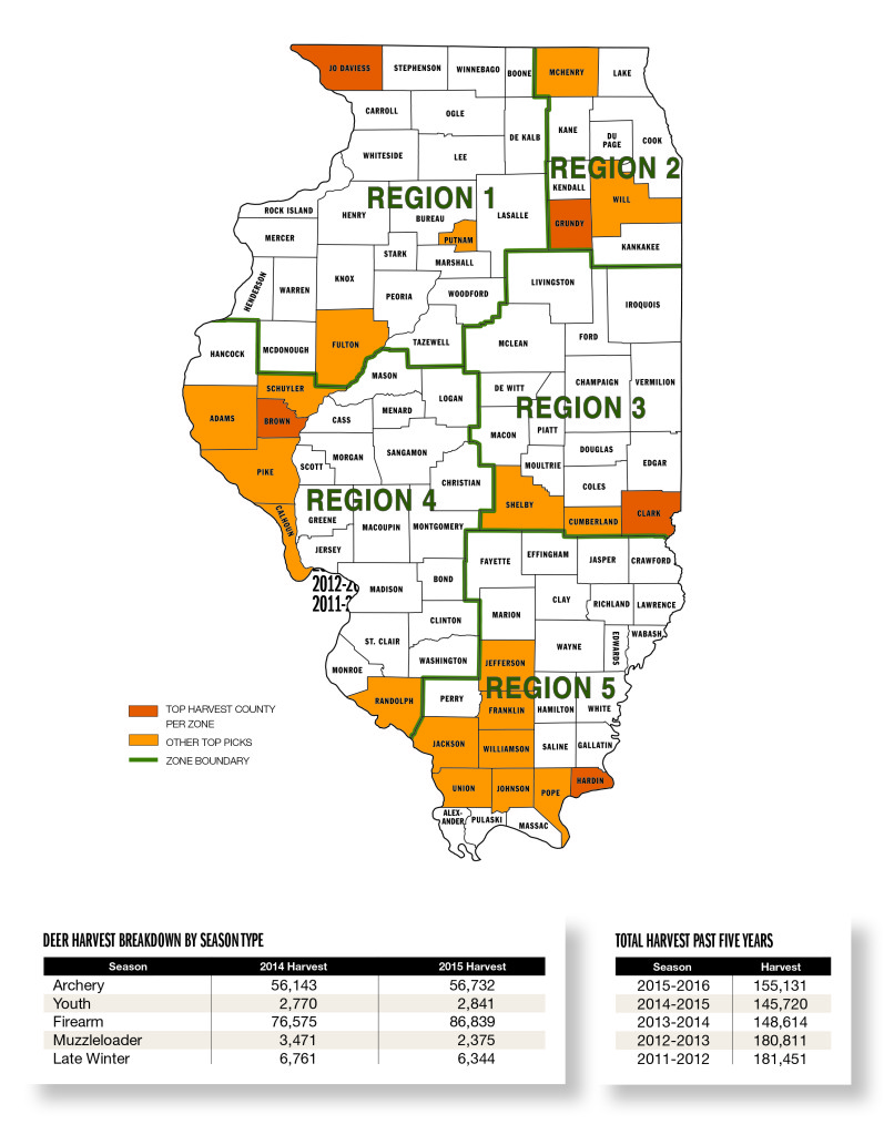 Illinois deer forecast for 2016 game fish for Illinois game and fish