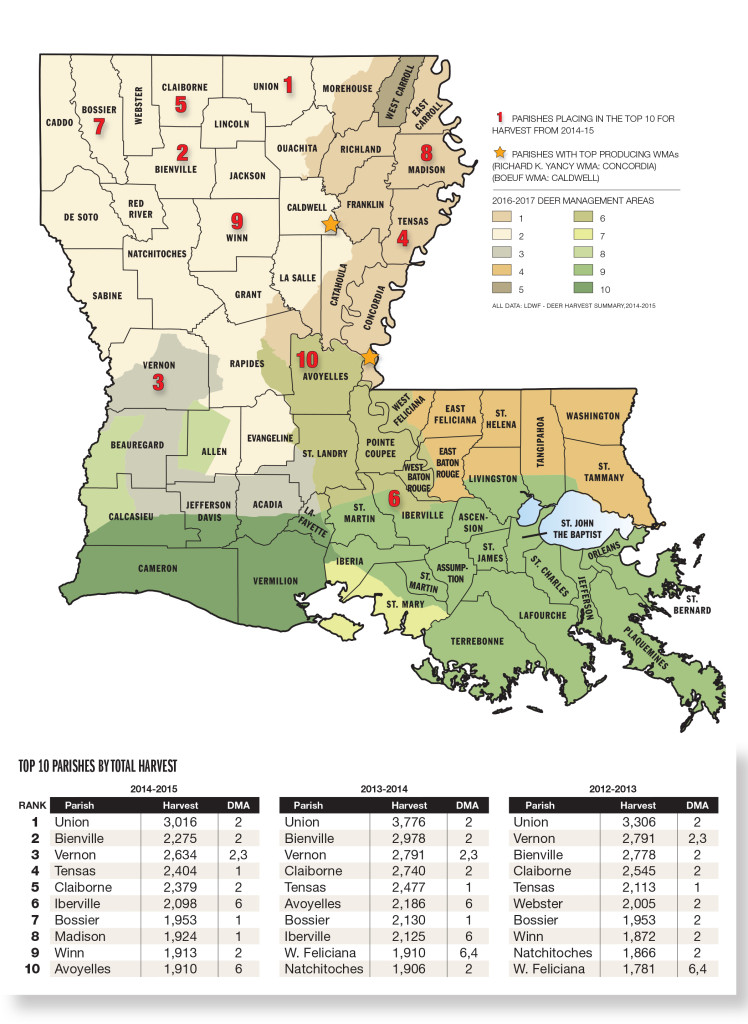 Louisiana deer forecast for 2016 game fish for Louisiana fish and game