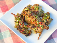Grilled Rabbit Chimichurri