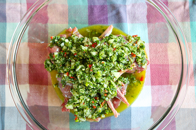 Marinate Chimichurri Rabbit