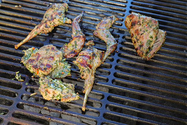 Grill Chimichurri Rabbit