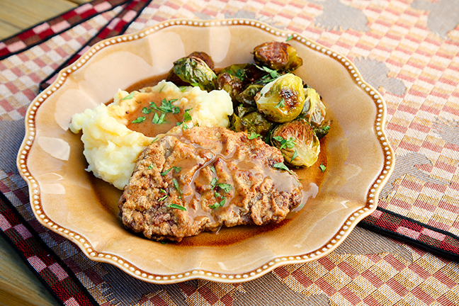 Chicken-Fried Elk Venison Steaks With Brown Gravy Recipe