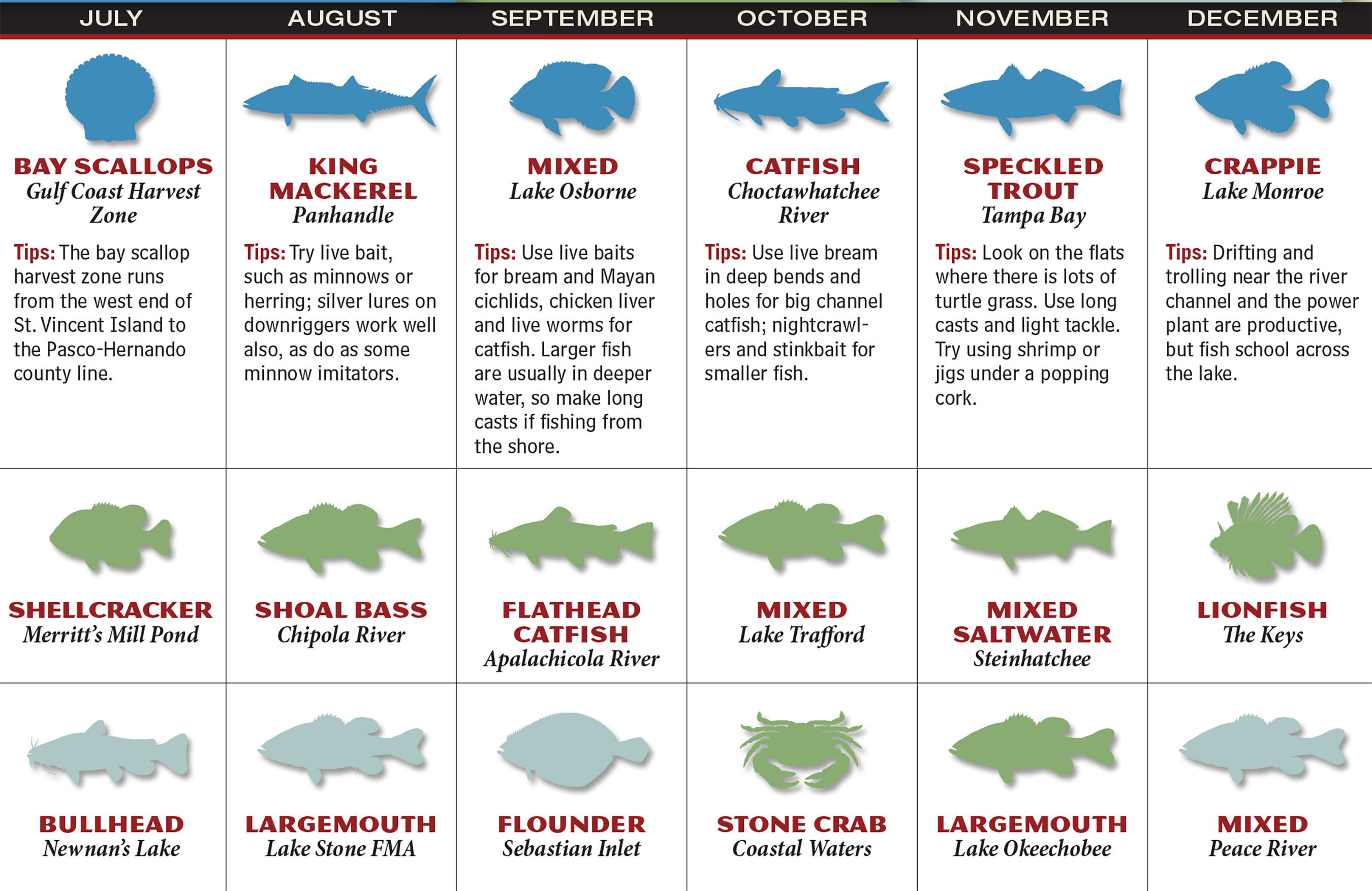 2017 florida fishing forecast game fish