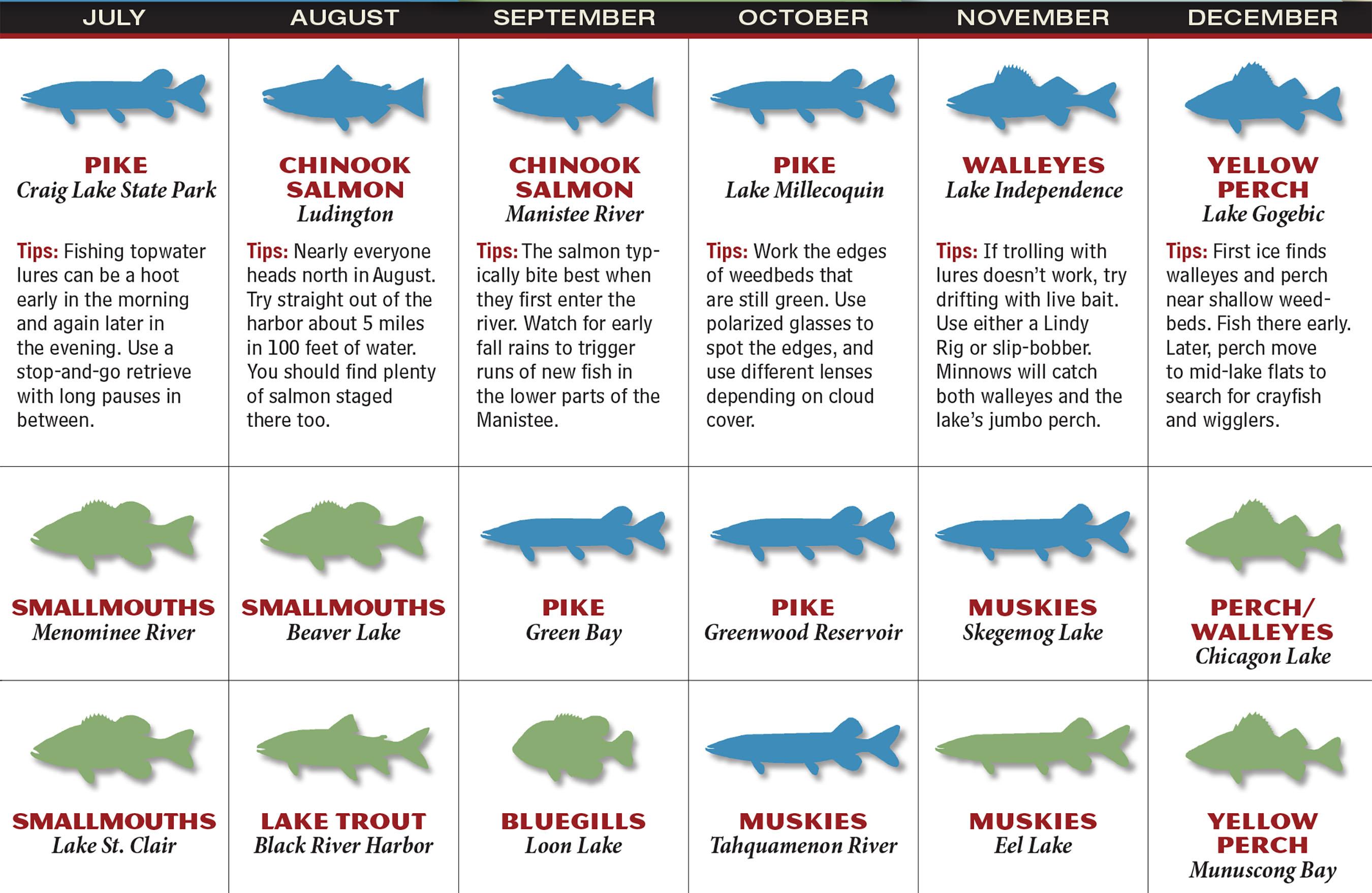 2017 michigan fishing forecast game fish for Fishing forecast calendar