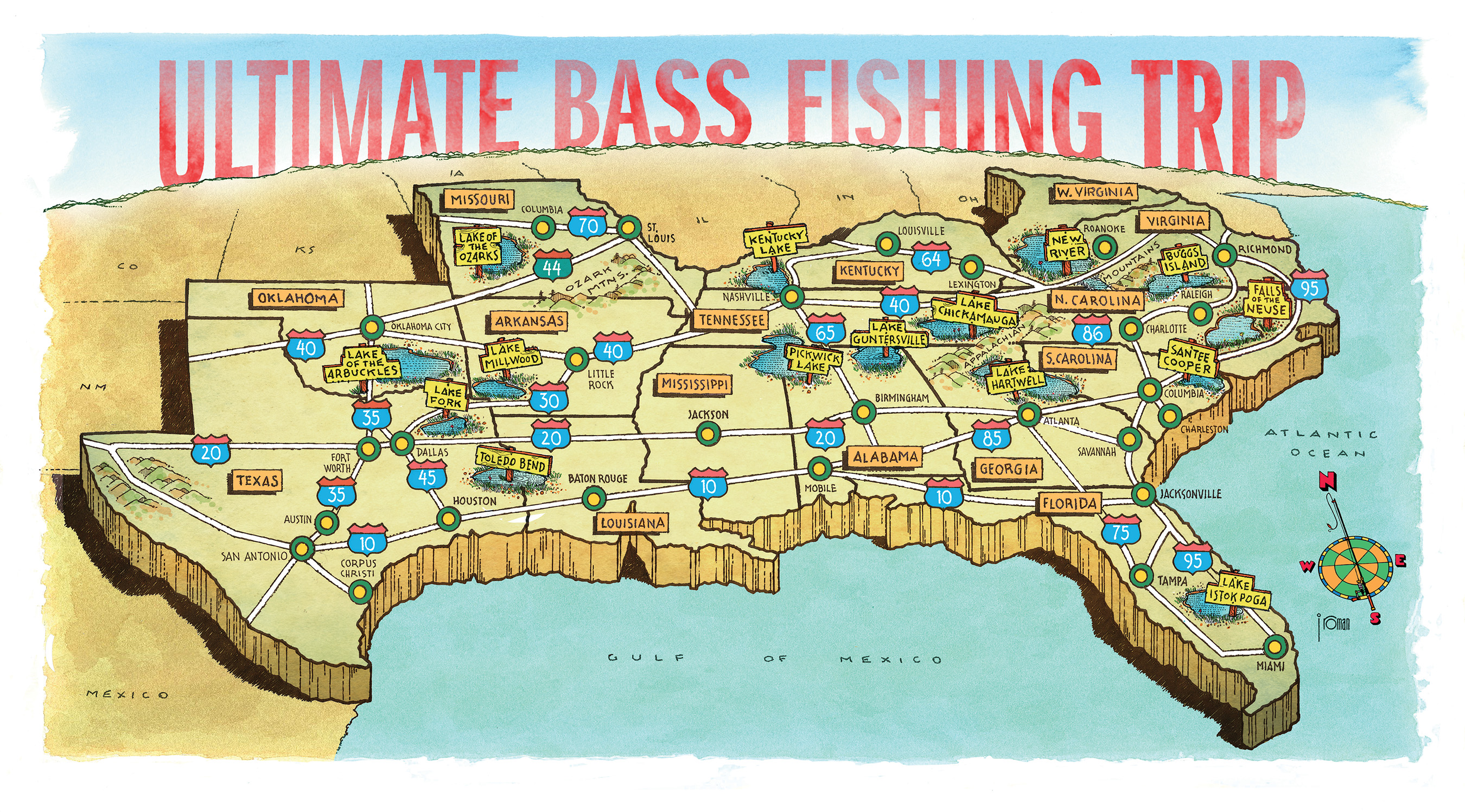 The ultimate southern bass fishing trips the sporting shoppe for Bass fishing trips