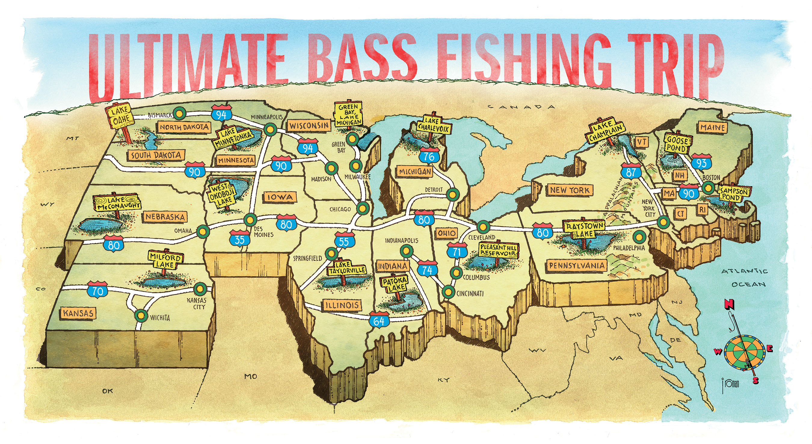 The ultimate northern bass fishing trip game fish for Best bass fishing lakes near me