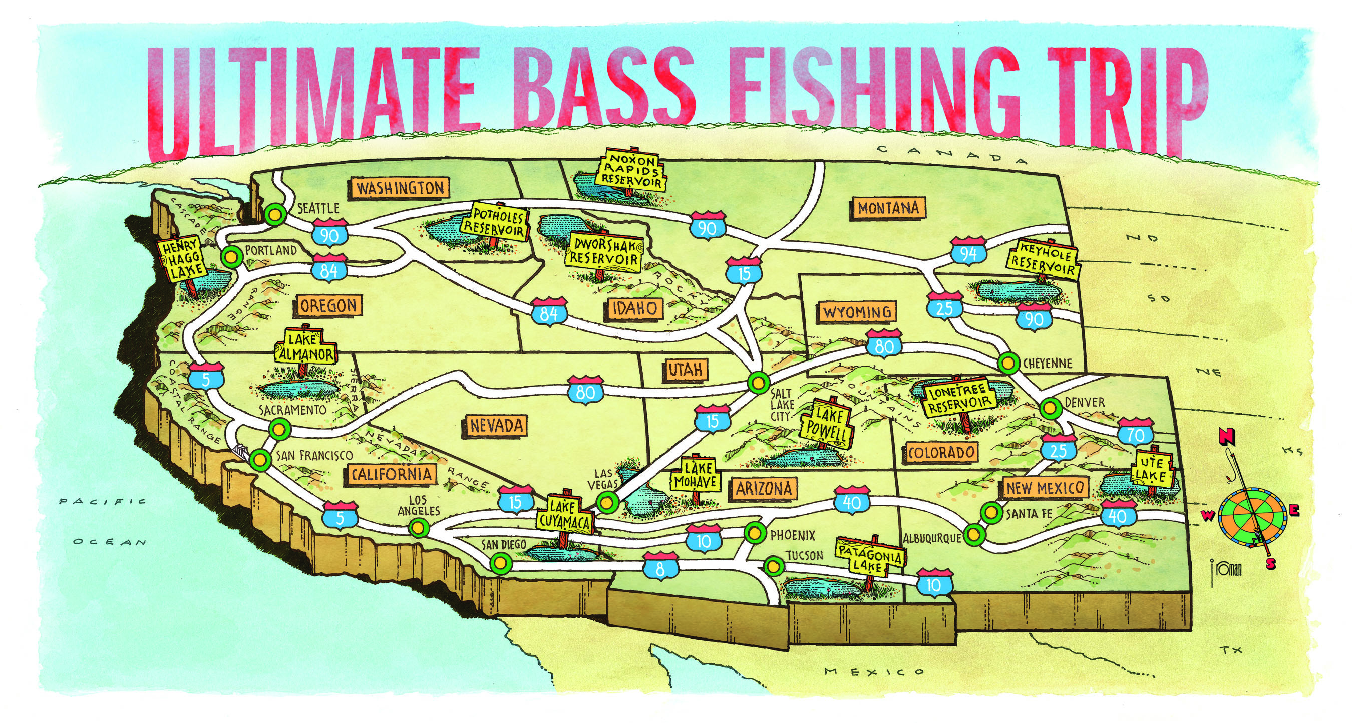 The ultimate western bass fishing trip game fish for Bass fishing trips
